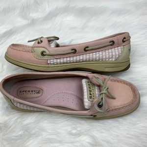 Sperry | Pink Striped Boat Shoes